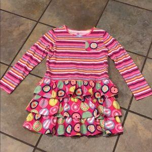 J khaki colorful stripe play dress 6x